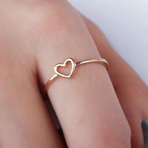 Gold/ silver heart ring